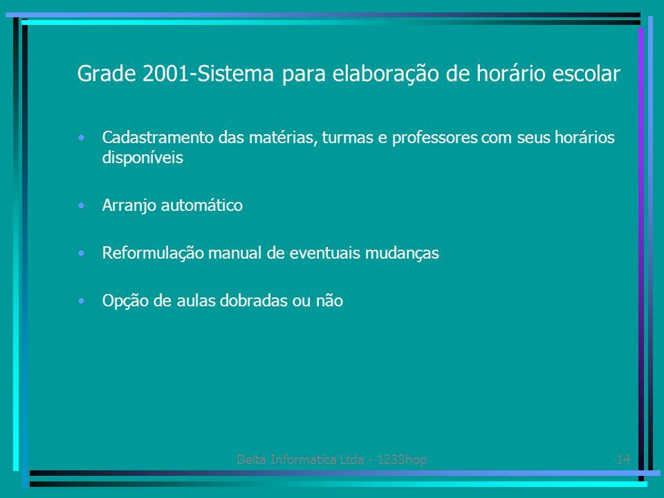 Grade 2001-Sistema para elaboração de horário escolar