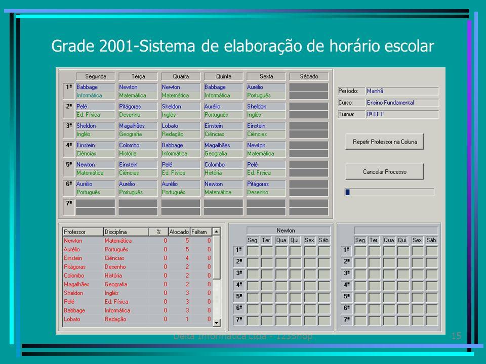 Grade 2001-Sistema de elaboração de horário escolar