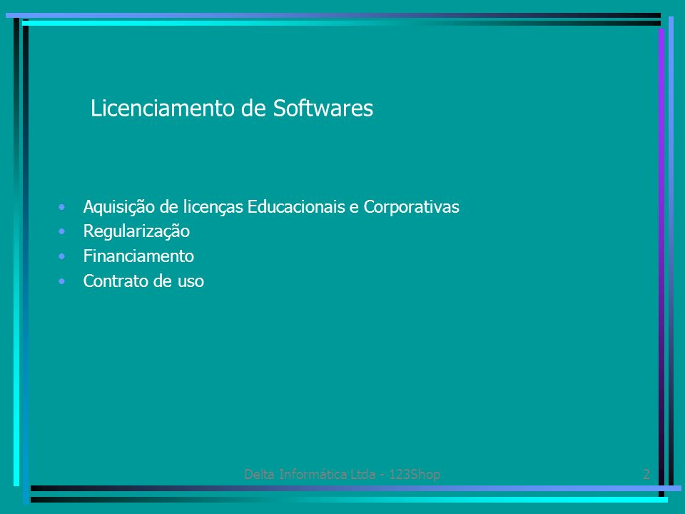 Licenciamento de Softwares