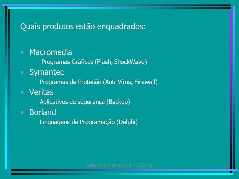 Quais produtos estão enquadrados: