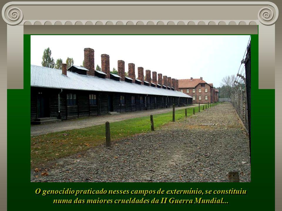 O genocídio praticado nesses campos de extermínio, se constituiu