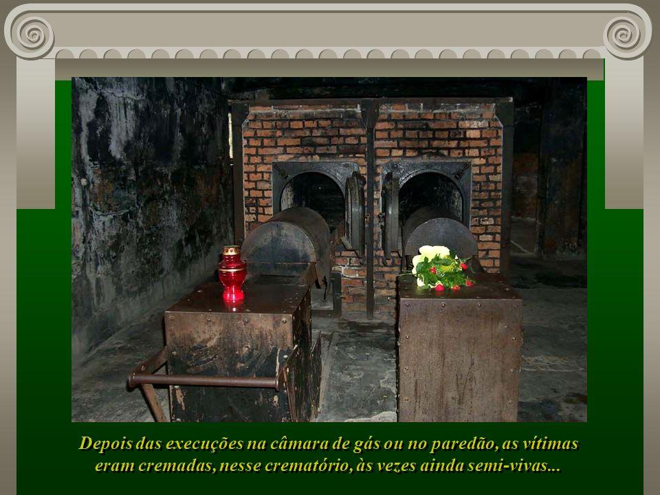 Depois das execuções na câmara de gás ou no paredão, as vítimas