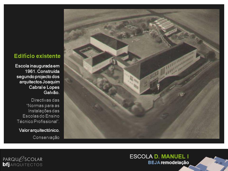 Edifício existente ESCOLA D. MANUEL I
