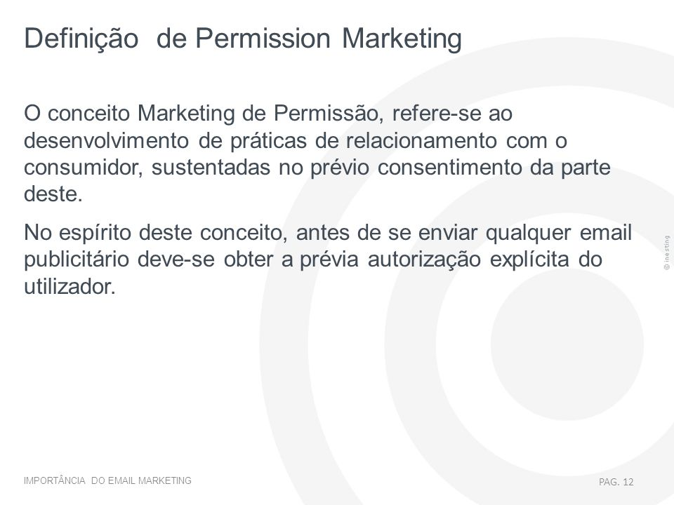 Definição de Permission Marketing