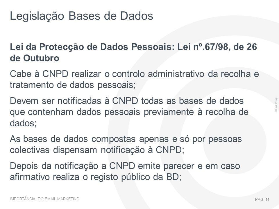 Legislação Bases de Dados