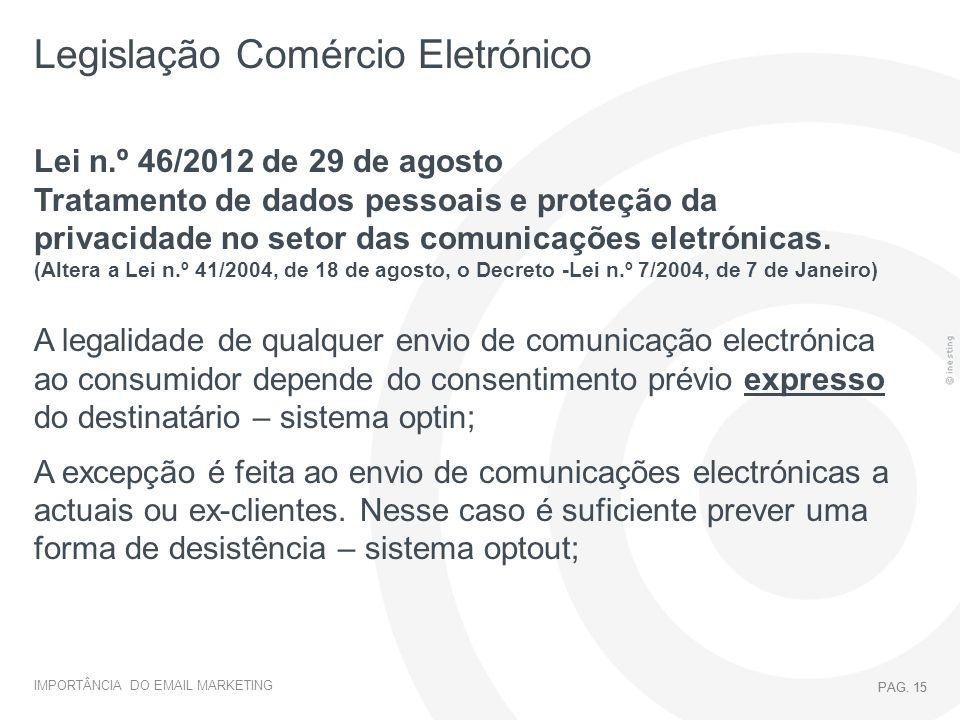 Legislação Comércio Eletrónico