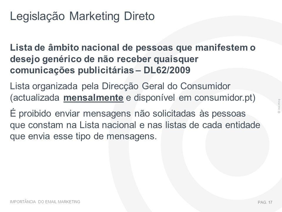 Legislação Marketing Direto