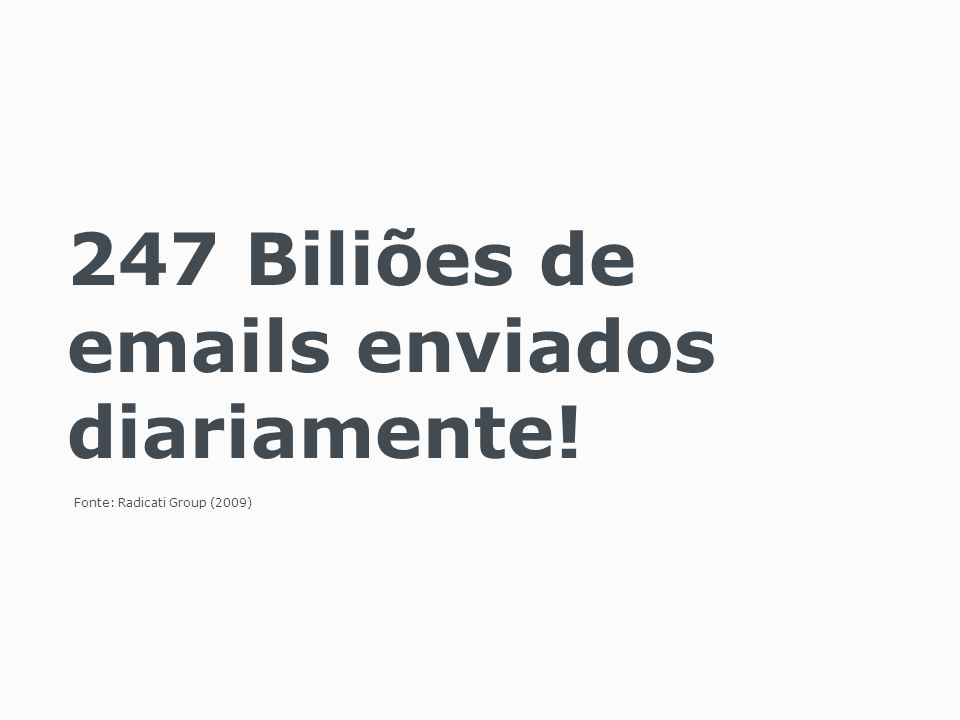 247 Biliões de emails enviados diariamente!