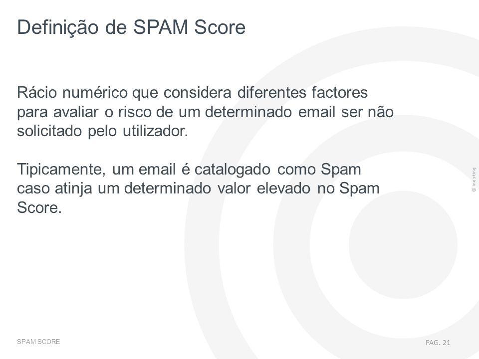 Definição de SPAM Score