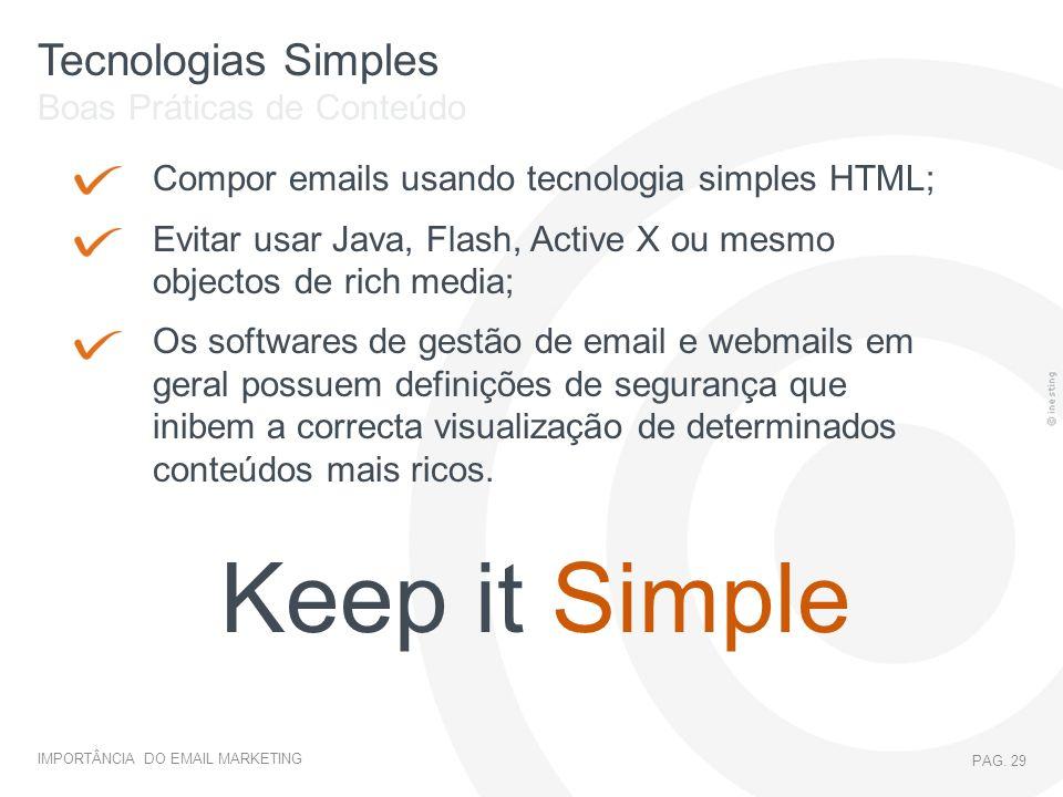 Keep it Simple Tecnologias Simples Boas Práticas de Conteúdo