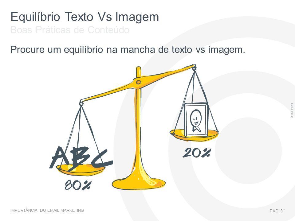 Equilíbrio Texto Vs Imagem