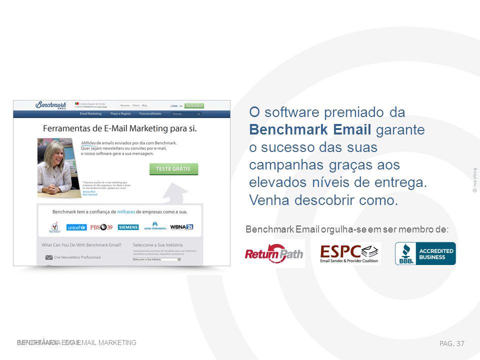 O software premiado da Benchmark Email garante