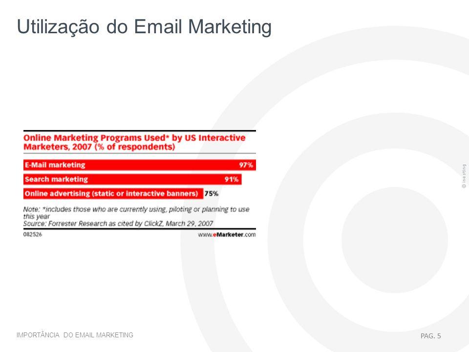 Utilização do Email Marketing
