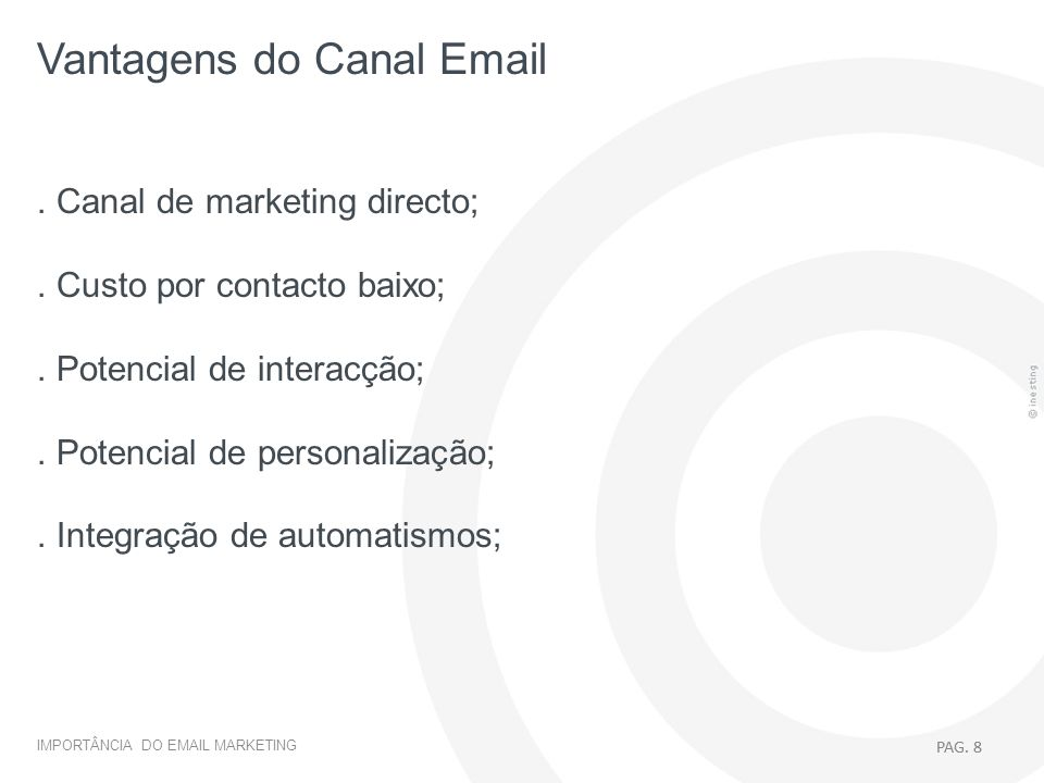 Vantagens do Canal Email