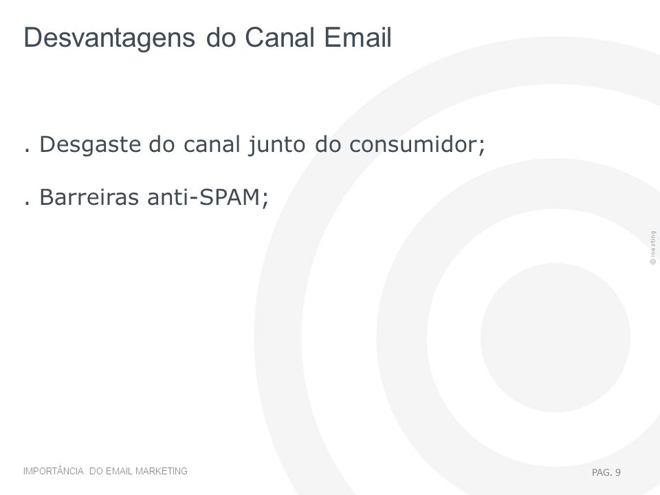 Desvantagens do Canal Email