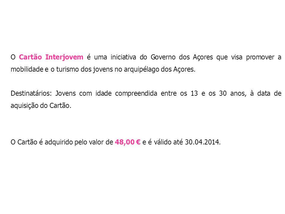 O Cartão Interjovem é uma iniciativa do Governo dos Açores que visa promover a mobilidade e o turismo dos jovens no arquipélago dos Açores.