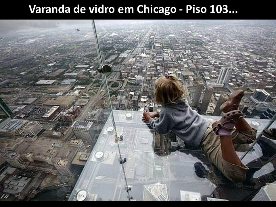 Varanda de vidro em Chicago - Piso 103...
