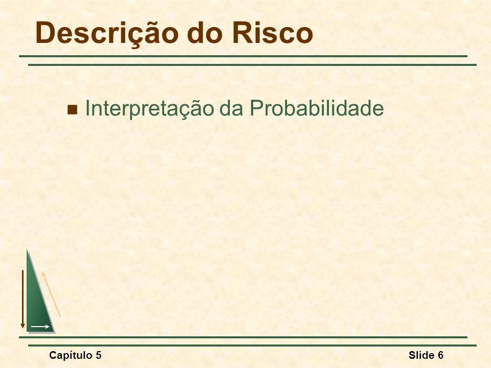 Descrição do Risco Interpretação da Probabilidade Capítulo 5 5