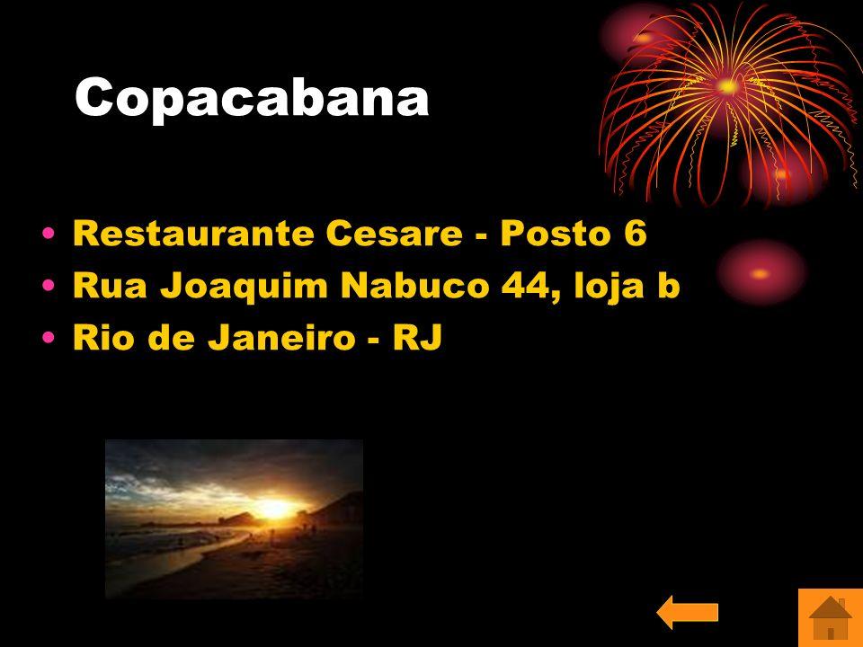 Copacabana Restaurante Cesare - Posto 6 Rua Joaquim Nabuco 44, loja b