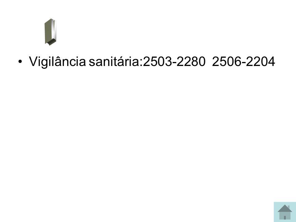 V Vigilância sanitária:2503-2280 2506-2204