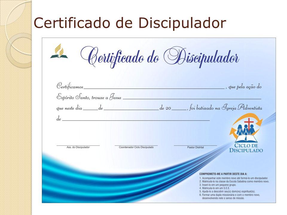 Certificado de Discipulador