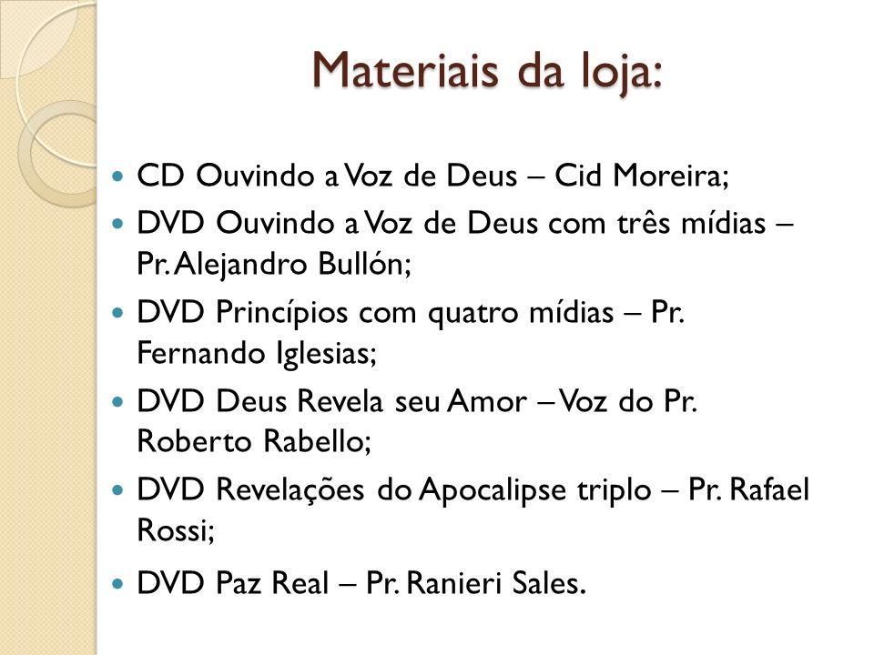 Materiais da loja: CD Ouvindo a Voz de Deus – Cid Moreira;