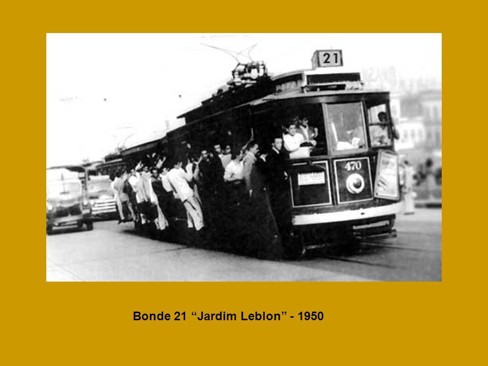 Bonde 21 Jardim Leblon - 1950