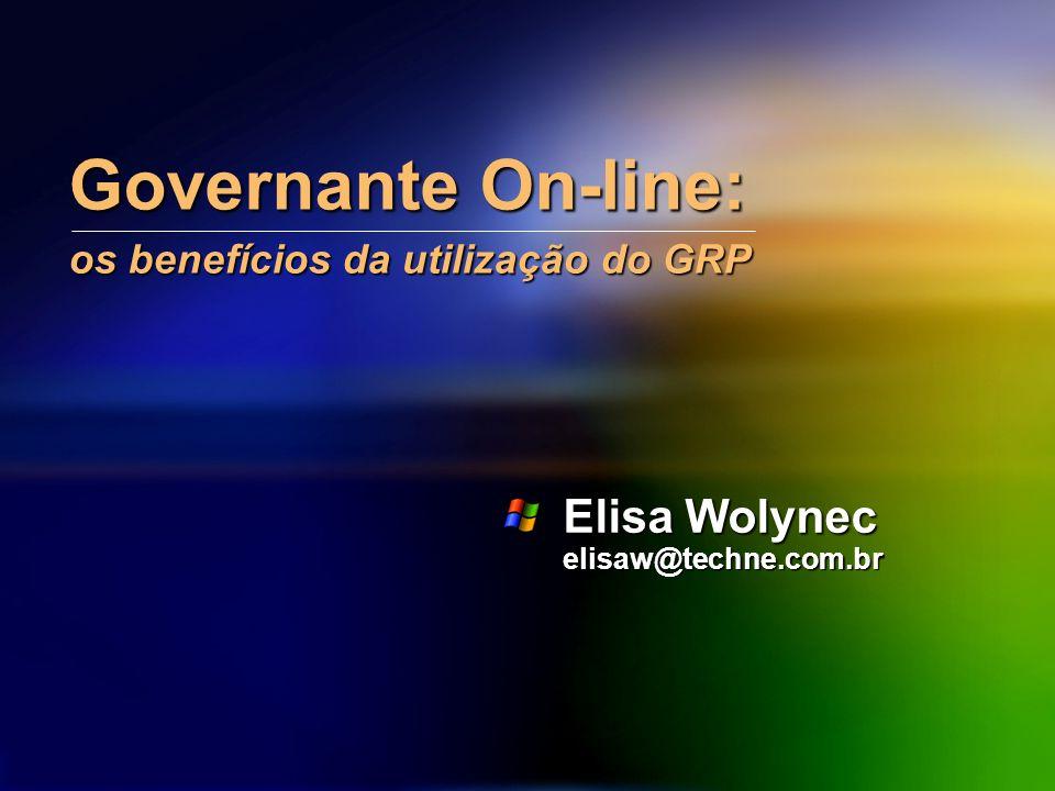 Governante On-line: os benefícios da utilização do GRP