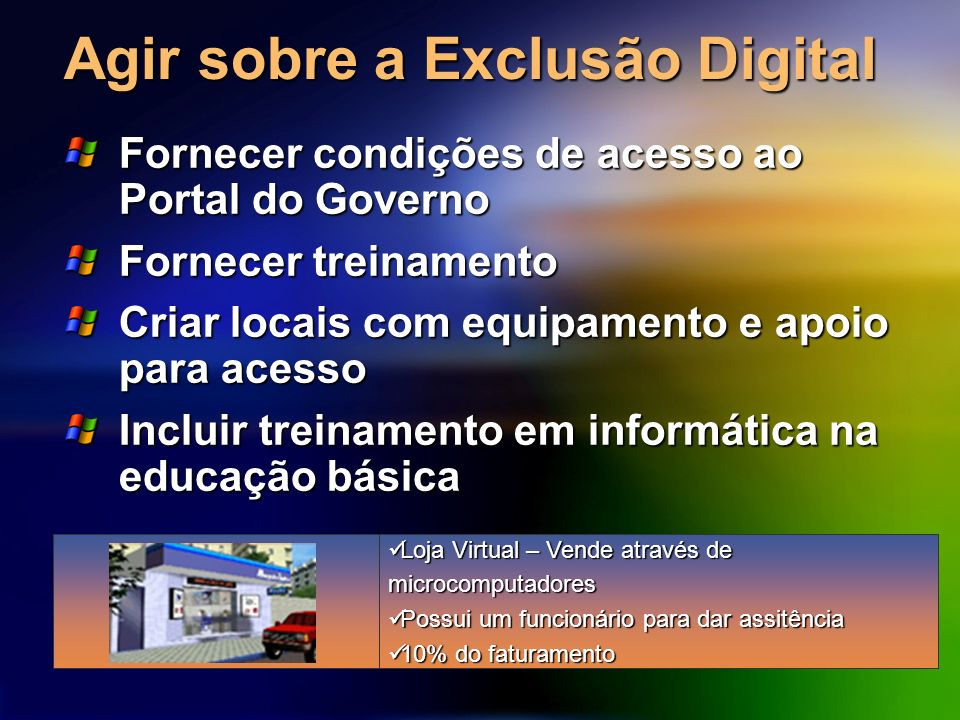Agir sobre a Exclusão Digital