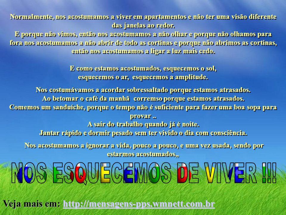 NOS ESQUECEMOS DE VIVER !!!