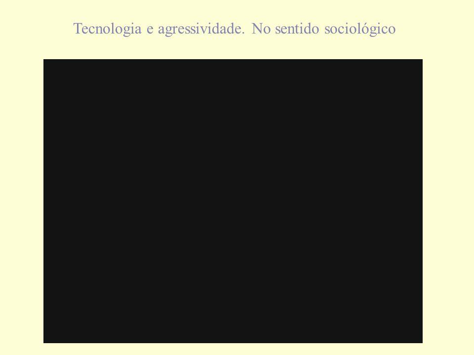 Tecnologia e agressividade. No sentido sociológico