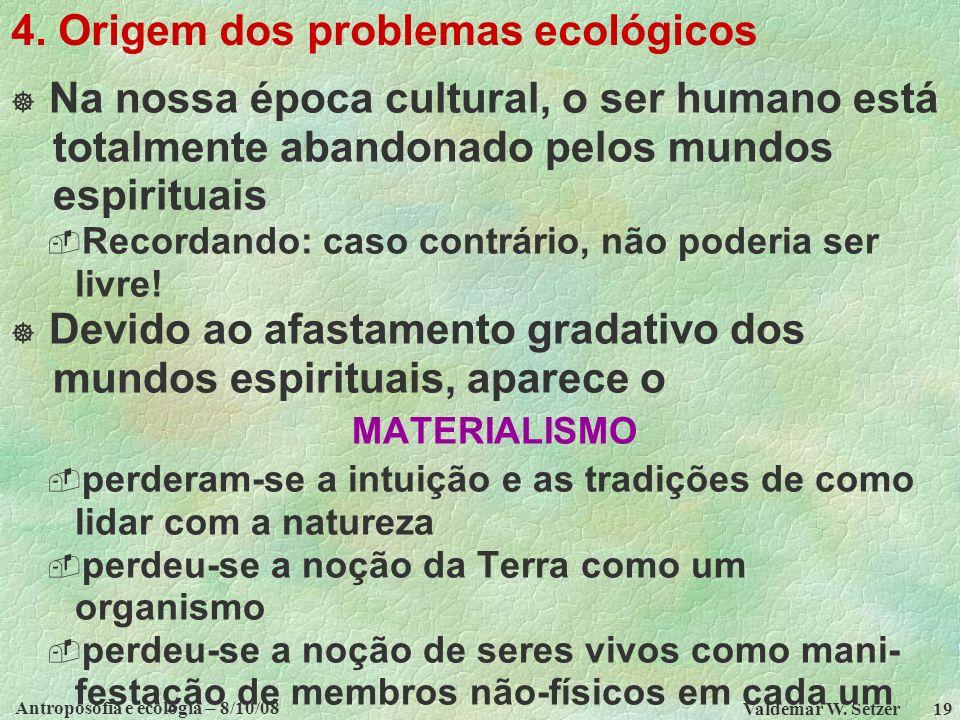 4. Origem dos problemas ecológicos