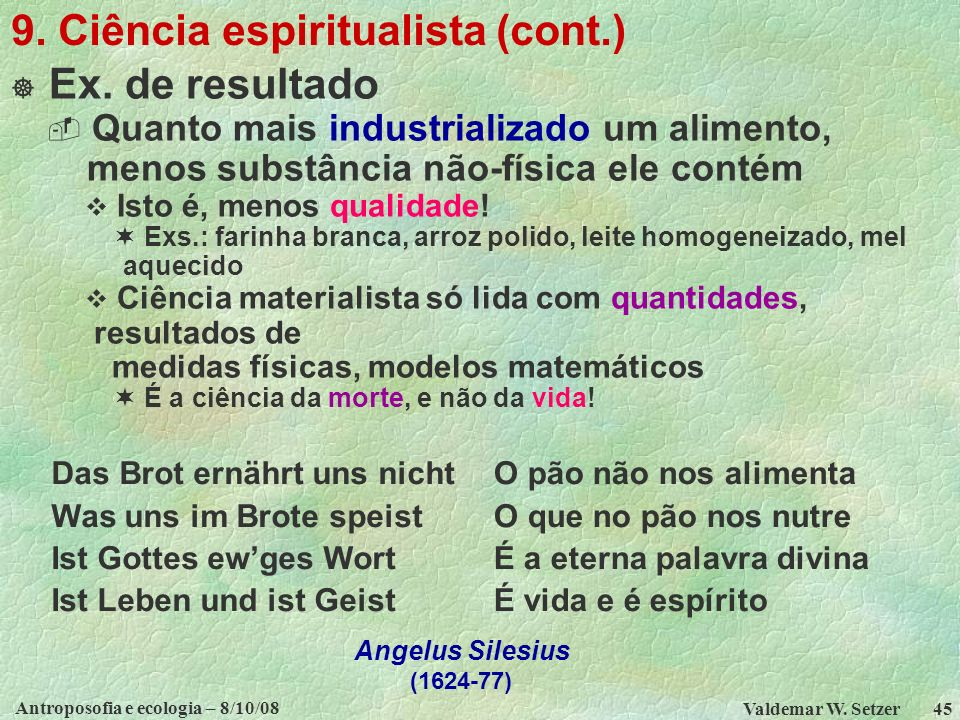 9. Ciência espiritualista (cont.)
