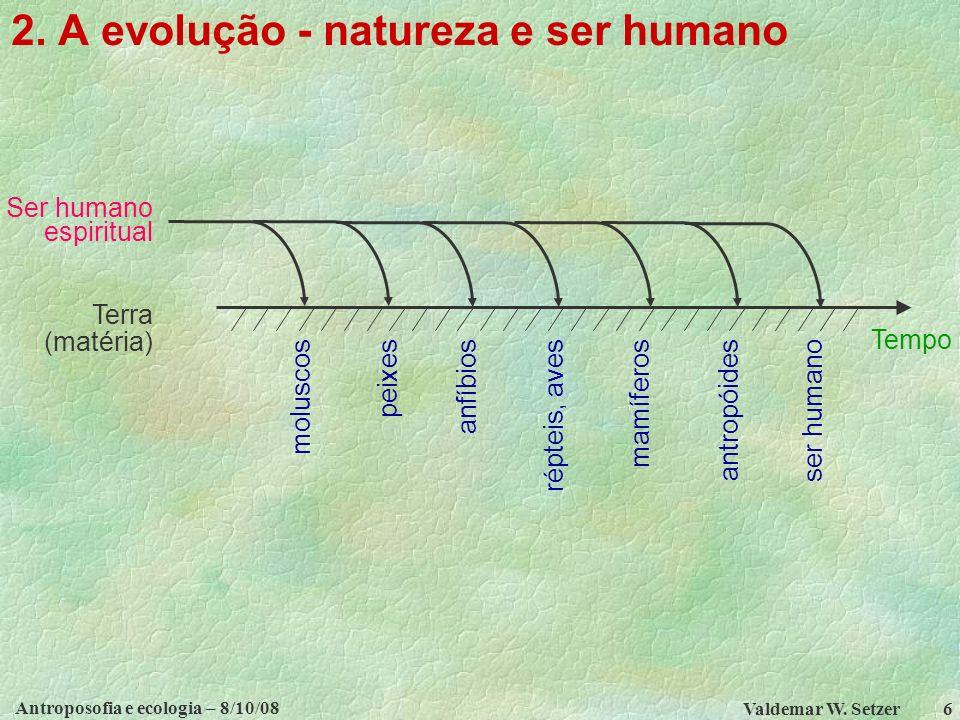 2. A evolução - natureza e ser humano