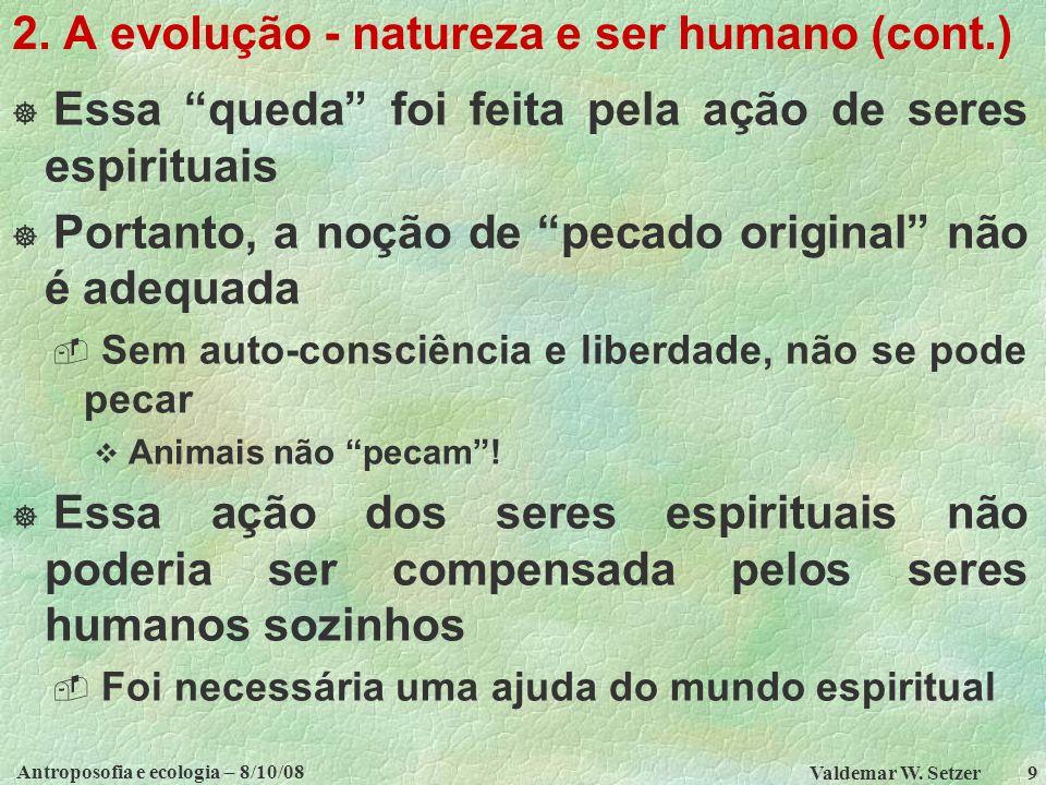 2. A evolução - natureza e ser humano (cont.)