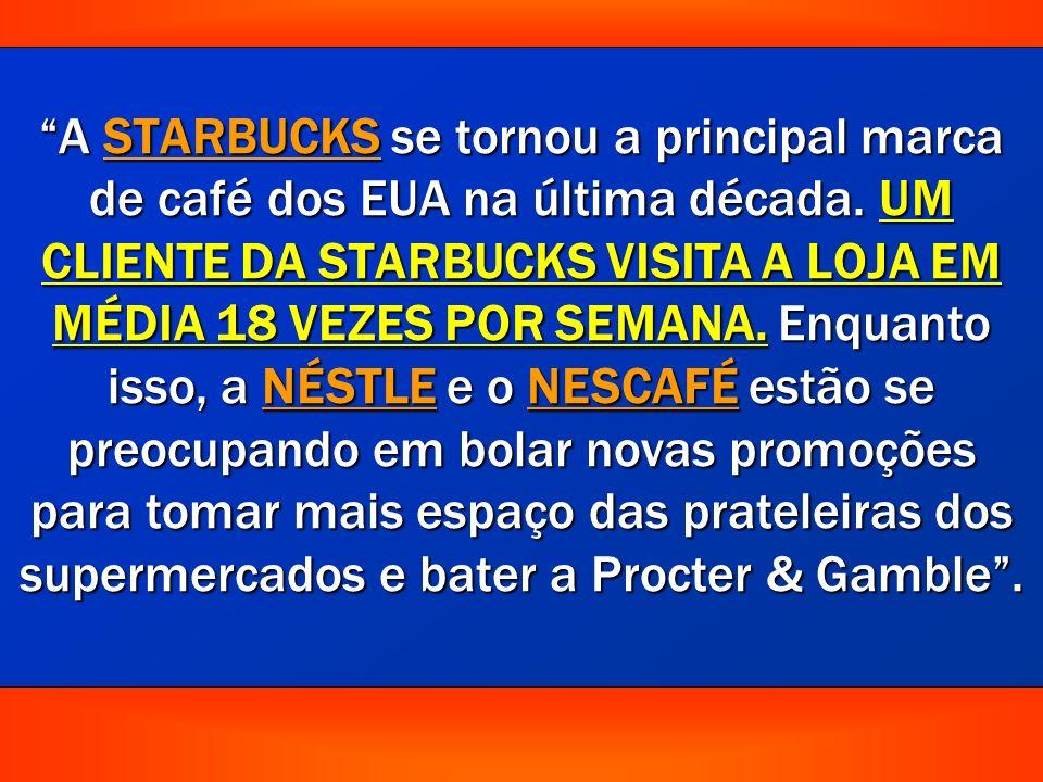 A STARBUCKS se tornou a principal marca de café dos EUA na última década.