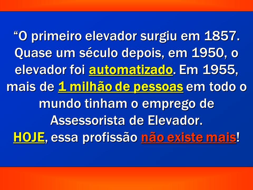 O primeiro elevador surgiu em 1857