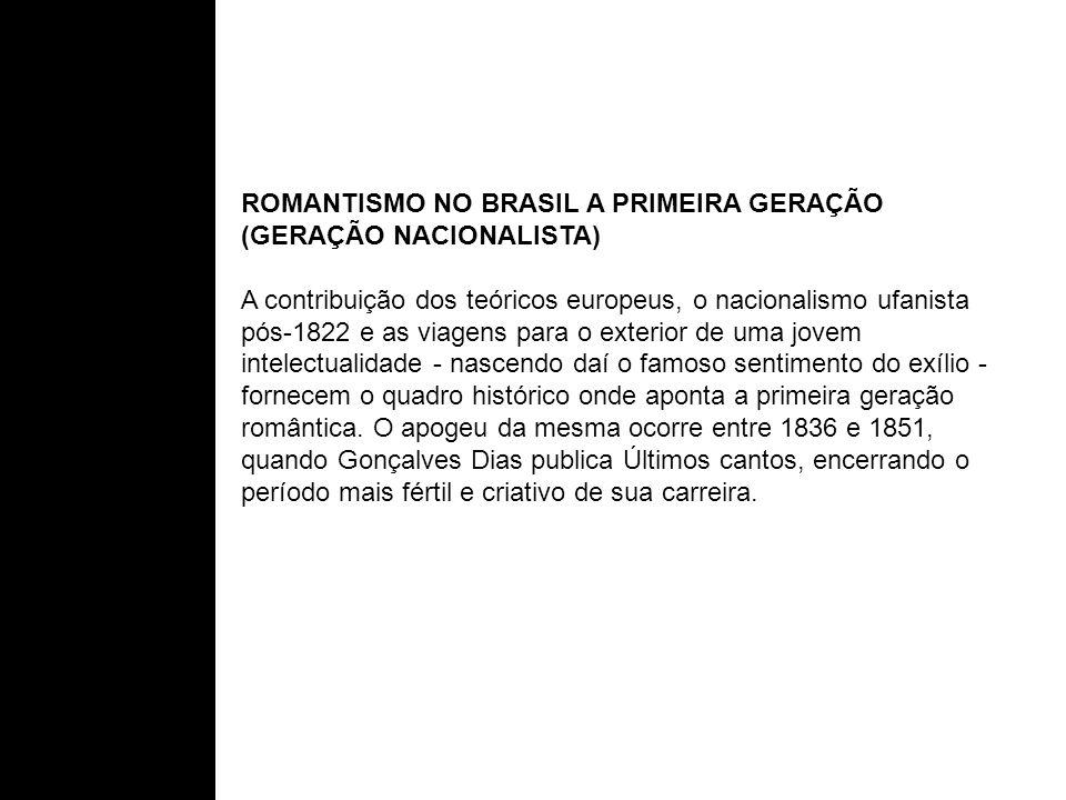 ROMANTISMO NO BRASIL A PRIMEIRA GERAÇÃO