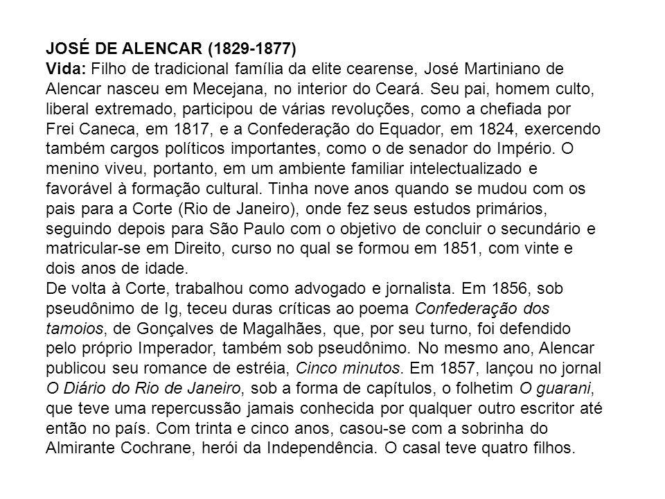 JOSÉ DE ALENCAR (1829-1877)