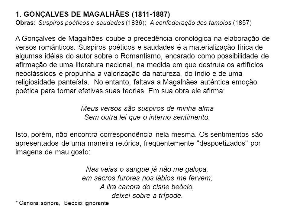 1. GONÇALVES DE MAGALHÃES (1811-1887)
