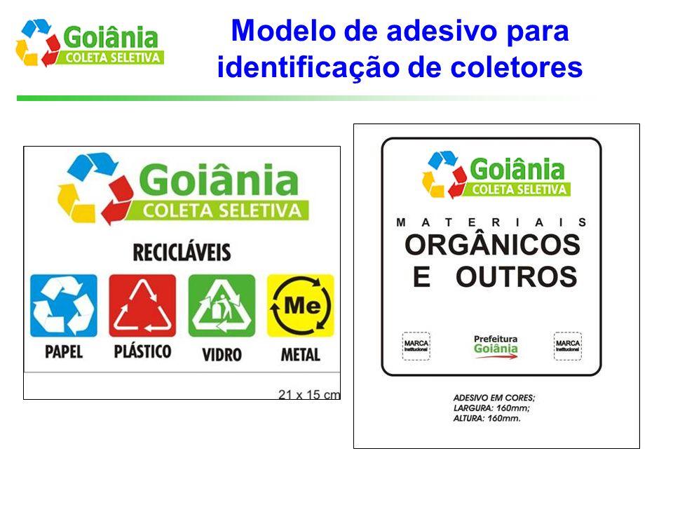 Modelo de adesivo para identificação de coletores