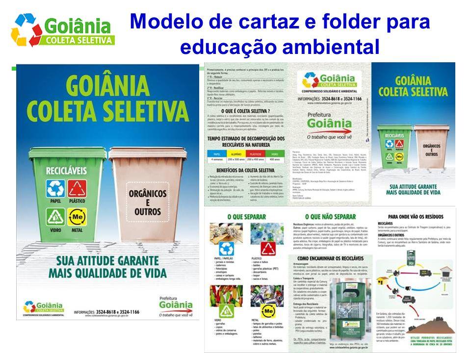 Modelo de cartaz e folder para educação ambiental