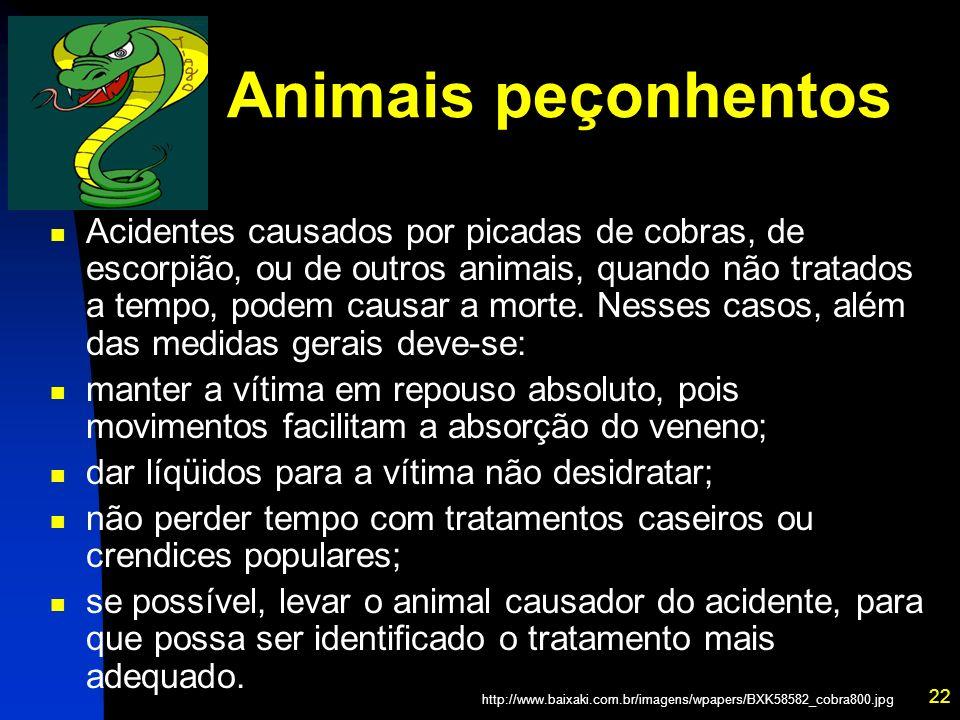 Animais peçonhentos