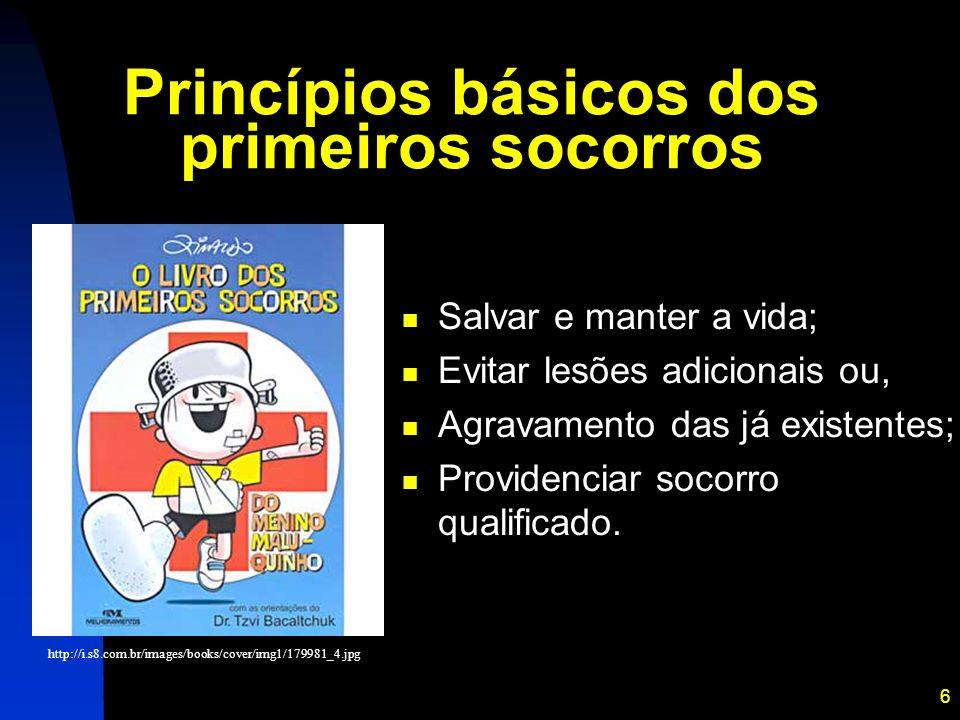 Princípios básicos dos primeiros socorros