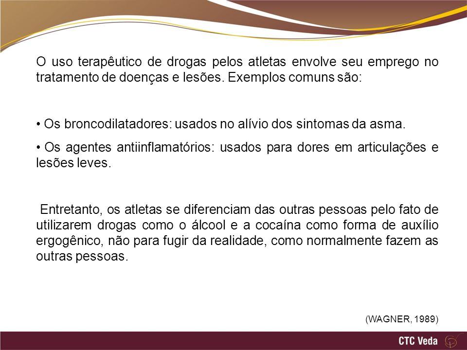 Os broncodilatadores: usados no alívio dos sintomas da asma.