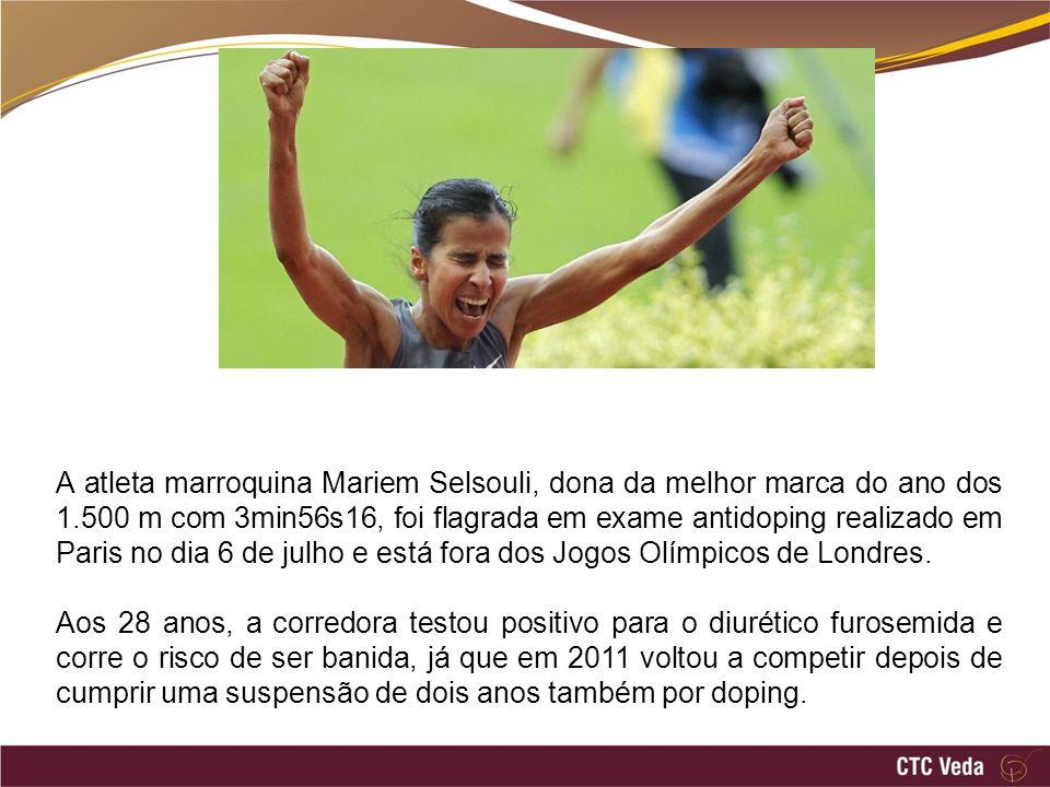 A atleta marroquina Mariem Selsouli, dona da melhor marca do ano dos 1