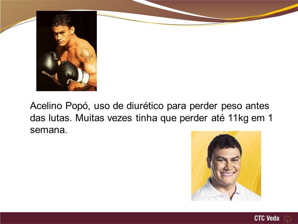 Acelino Popó, uso de diurético para perder peso antes das lutas