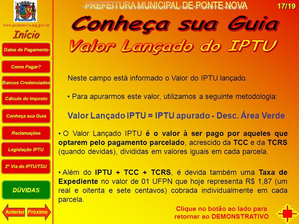 Conheça sua Guia Valor Lançado do IPTU