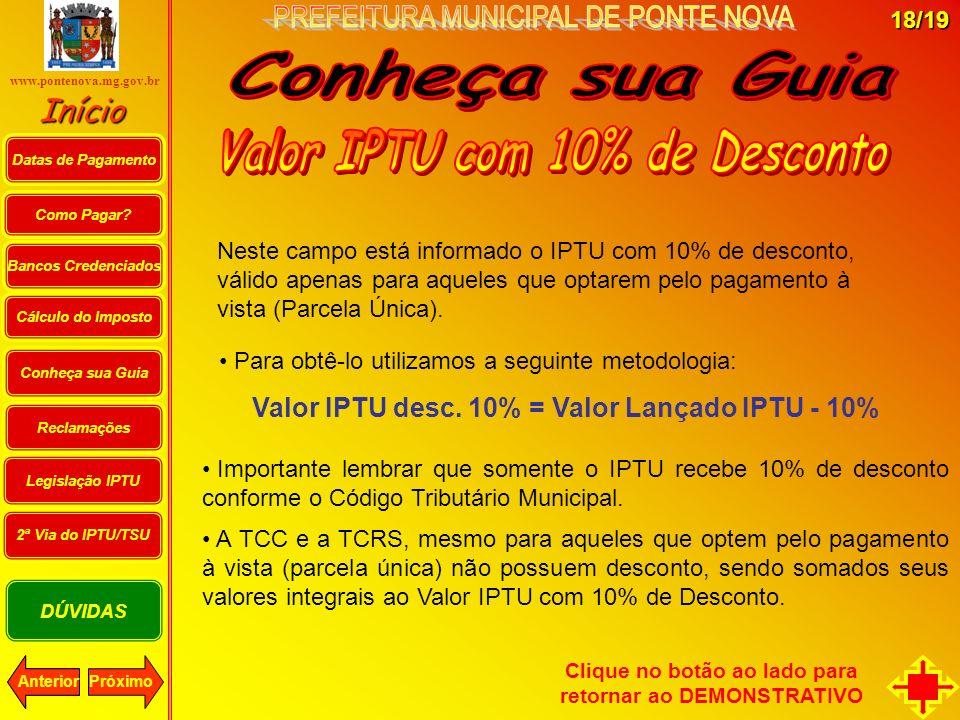 Conheça sua Guia Valor IPTU com 10% de Desconto