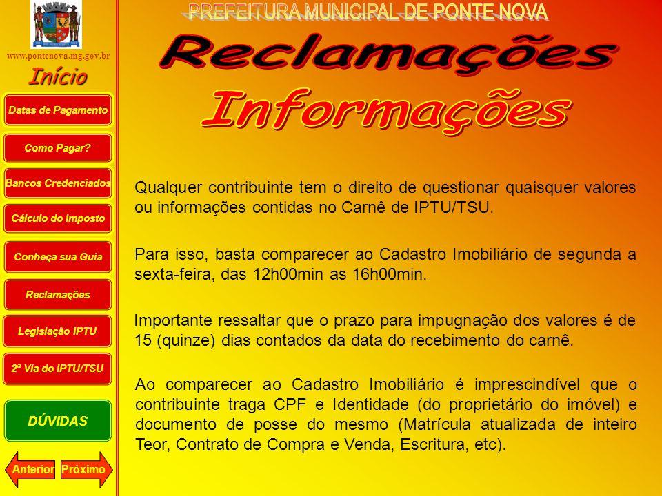 Reclamações Informações